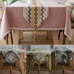 Table Runner Geometric Dining Wedding Bed Room Party Dining