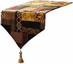 Artbisons Table Runner Gold Illusion 72x13 Thickly Fashion H