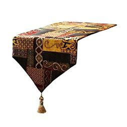 """Artbisons Table Runner Gold Illusion 95x13"""" Thickly Fashion"""