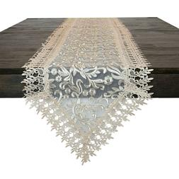 Table Runner Golden Net Material.