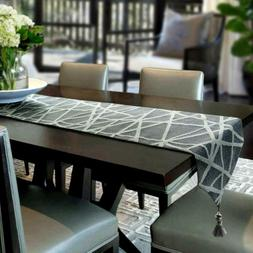 Artbisons Table Runner Gray Handmade Thickly Table Linens