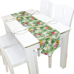 Yochoice Table Runner Home Decor, Stylish Hawaiian Tropical