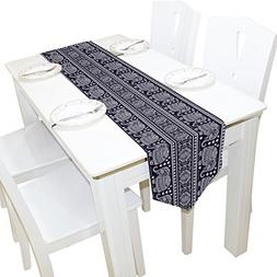 Yochoice Table Runner Home Decor, Vintage African Ethnic Tri
