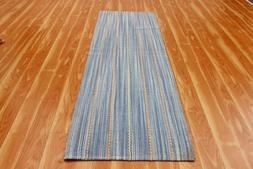 Runner Kitchen Mat Indian Handmade Striped Area Rugs Table M