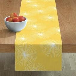 Table Runner Mod Yellow And White Mod Home Decor Floral Mod