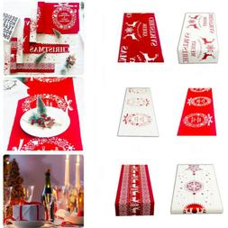 Table Runner New Year Christmas Party Tablecloth Kitchen Din
