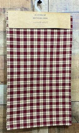 Table Runner Red Plaid Farm House Home Collection 13X48 New