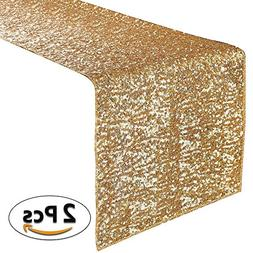 PONY DANCE Table Runner Sequin for Party Banquet Decoration