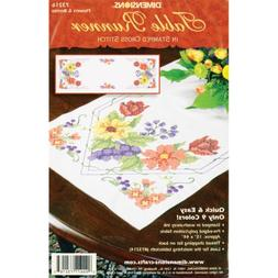 "Dimensions ""Flowers and Berries"" Table Runner Stamped Cross"