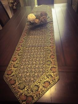 "Table Runner/wall Tapestry, Brocade, 14""X 80"" Art Silk, Beau"