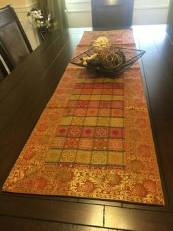 Table Runner/ Tapestry, Brocade, 60 Inch, 70 Inch,Silk, Form