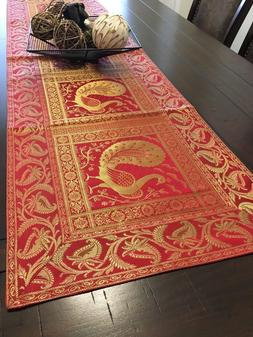 "Table Runner/wall Tapestry, Brocade, 16""X 60"" Art Silk, Form"
