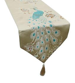 MAGILONA Tablecover Home Decorative Satin Smooth Embroidered
