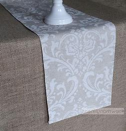 Tan Taupe Beige Ivory Table Runner Floral Table Centerpiece