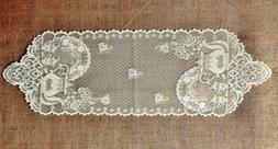 Heritage Lace Tea Pots Table Runners and Place Mats White an