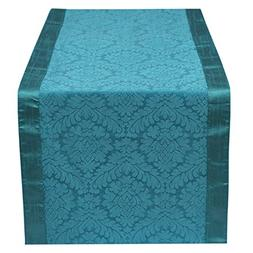 The White Petals Teal Table Runner 14x120 inches Perfect For