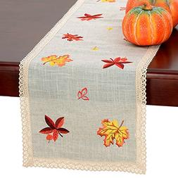 Grelucgo Thanksgiving Holiday Lace Table Runner Or Dresser S
