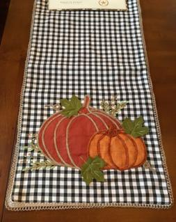 The Prairie Black White Check Pumpkins Fall Harvest Table Ru