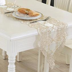 Tina Wedding Party Home Decoration Embroidered Lace Table Ru