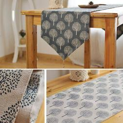 Tree Pattern Table Runner Home Teahouse Coffee Bar Dining Ki