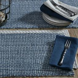Park Designs Tweed Denim Blues Placemats ~  ~~FREE SHIPPING~