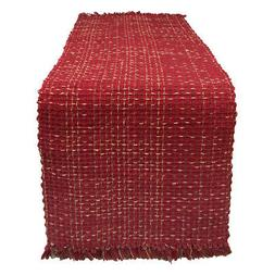 "Park Designs Tweed Table Runner - 36""L - Wine"