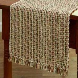 "Park Designs ""Tweed - Spice"" 36""L Table Runner - Green, Brow"