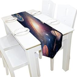 ALAZA Universe Galaxy Outer Space Table Runner Placemat 13 x