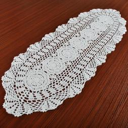 US Vintage Crochet Cotton Lace Dining Table Runner Mats Boho
