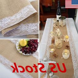 USA Burlap Hessian Wedding Table Runner Natural Jute Rustic