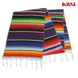 USA Stock Mexican Serape Table Runner Home Party Decor Fring