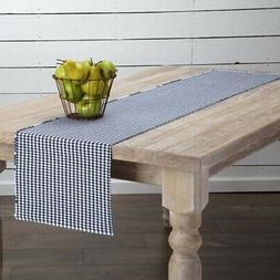 VHC Farmhouse Table Runner Decorative Table Cloth Cotton Pla