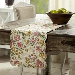 VHC Farmhouse Table Runner Decorative Tablecloth Decor Cotto