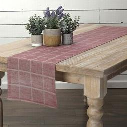 VHC Farmhouse Table Runner Julie Tabletop Kitchen Textured C