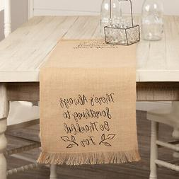 VHC Rustic Table Runner Cloth Jute Harvest Fall Home Decor 1