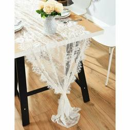 Vintage Lace Wedding Table Runner White Floral Rustic Weddin