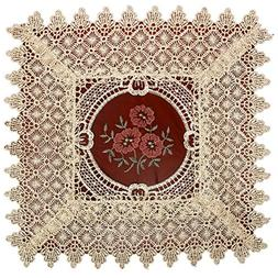 Simhomsen Set Of 6 Lace Table Doilies, Square 12 inch, Victo