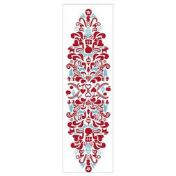 Ikea VINTERFEST Table Runner Nordic Patterned White/Red/Blue