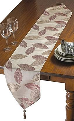 Violet Linen Milano Arts Collection Decorative Table Runner,