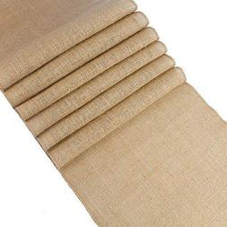 mds Pack of 10 Wedding 12 x 108 inch Burlap Table Runner Nat