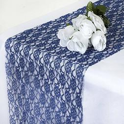 MDS Pack Of 20 Wedding 12 x 108 inch Lace Table Runner For W