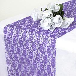 MDS Pack Of 12 Wedding 12 x 108 inch Lace Table Runner For W