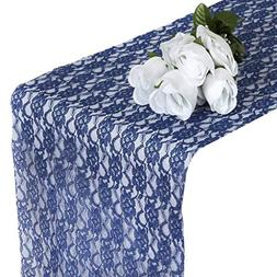 mds Pack of 10 Wedding 12 x 108 inch Lace Table Runner for W