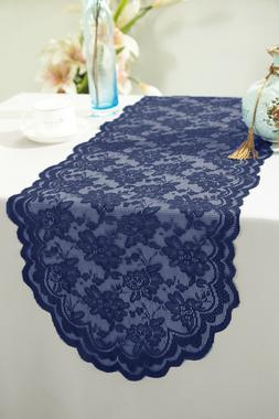 "Wedding Linens Inc. 13.5"" x 108"" Lace Table Runner Wedding B"