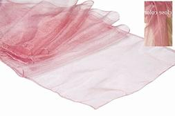 MDS Pack Of 15 Wedding 12 x 108 inch Organza Table Runner Fo