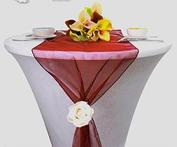 MDS Pack Of 10 Wedding 12 x 108 inch Organza Table Runner Fo
