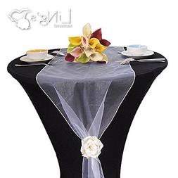 MDS Pack Of 1 Wedding 12 x 108 inch Organza Table Runner For
