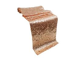 Liva Home Pack Of 5 Wedding 13 x 108 inch Sequin Table Runne