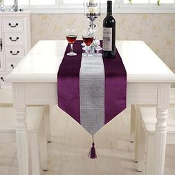 Western modern purple table runners tapestry middle diamond