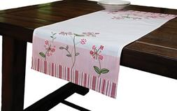 Xia Home Fashions Whimsy Embroidered Floral Table Runner, 16